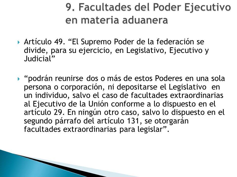Artículo 49. El Supremo Poder de la federación se divide, para su ejercicio, en Legislativo, Ejecutivo y Judicial podrán reunirse dos o más de estos P