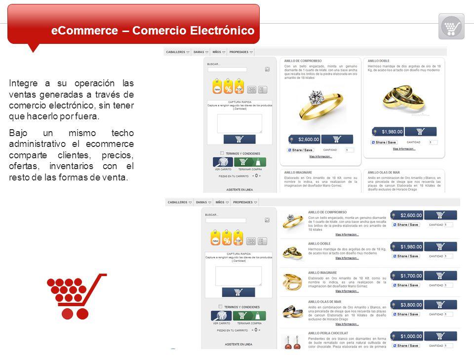 Integre a su operación las ventas generadas a través de comercio electrónico, sin tener que hacerlo por fuera. Bajo un mismo techo administrativo el e