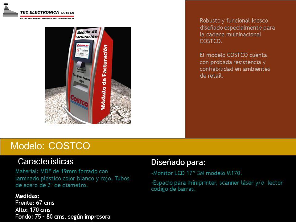 Modelo: COSTCO Características: Material: MDF de 19mm forrado con laminado plástico color blanco y rojo, Tubos de acero de 2