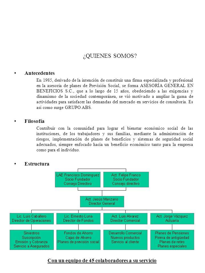 AREAS QUE ABARCAMOS Seguros –Asesoría Integral en Administración de Riesgos.