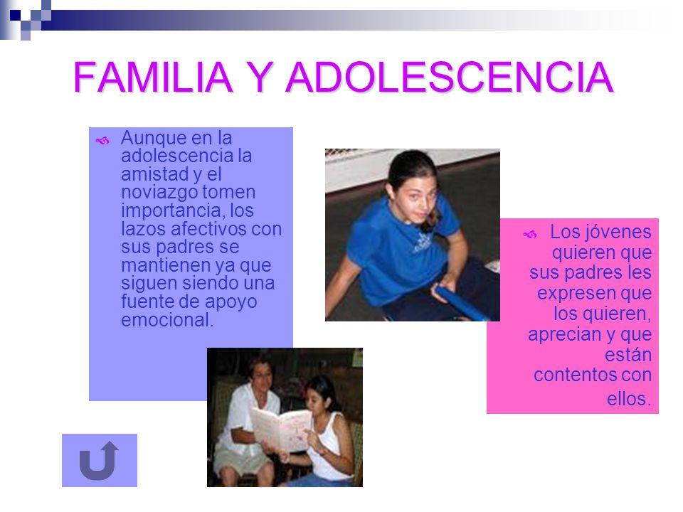 COMUNICACIÓN Y CONFLICTO Algunas relaciones familiares durante la adolescencia están protagonizadas por el conflicto.