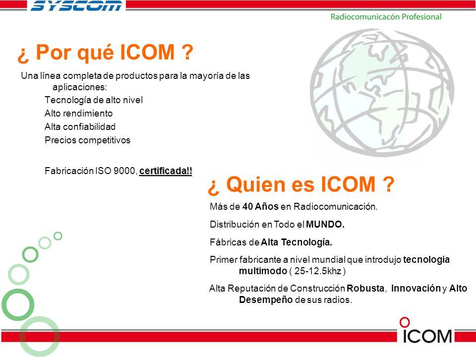 IC-F14 / 24 IC-F14S / 24S Perfecto para pequeños y grandes negocios, también para seguridad pública y privada.
