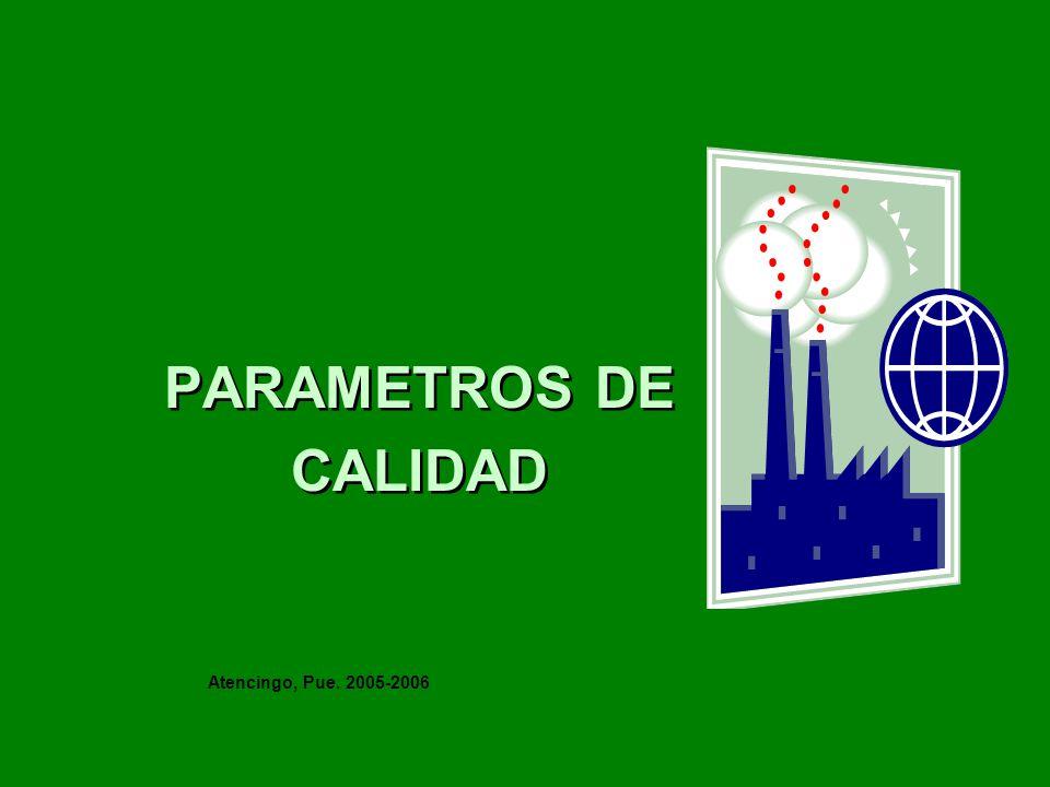PARAMETROS DE CALIDAD PARAMETROS DE CALIDAD Atencingo, Pue. 2005-2006