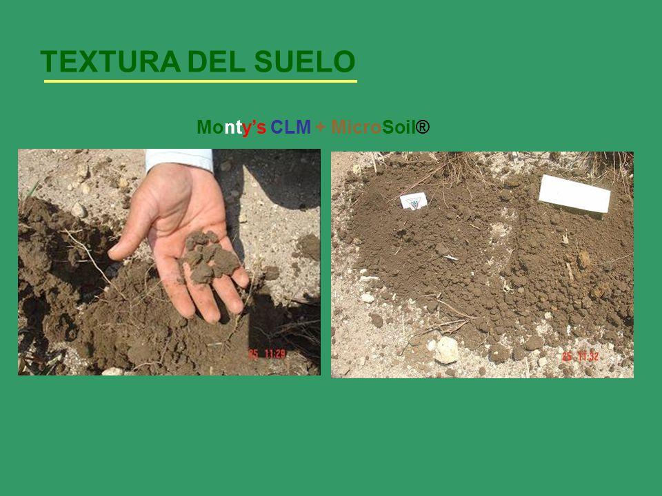 TEXTURA DEL SUELO Montys CLM + MicroSoil®