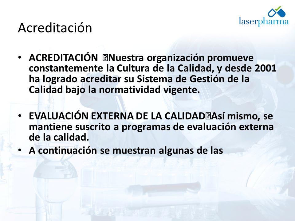 Acreditación ACREDITACIÓN Nuestra organización promueve constantemente la Cultura de la Calidad, y desde 2001 ha logrado acreditar su Sistema de Gestión de la Calidad bajo la normatividad vigente.