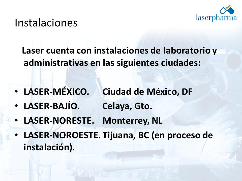 Instalaciones Laser cuenta con instalaciones de laboratorio y administrativas en las siguientes ciudades: LASER-MÉXICO.