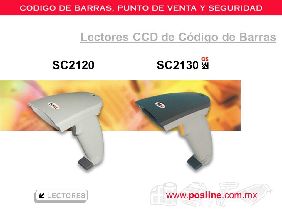 www.posline.com.mx SC2120 SC2130 Lectores CCD de Código de Barras LECTORES