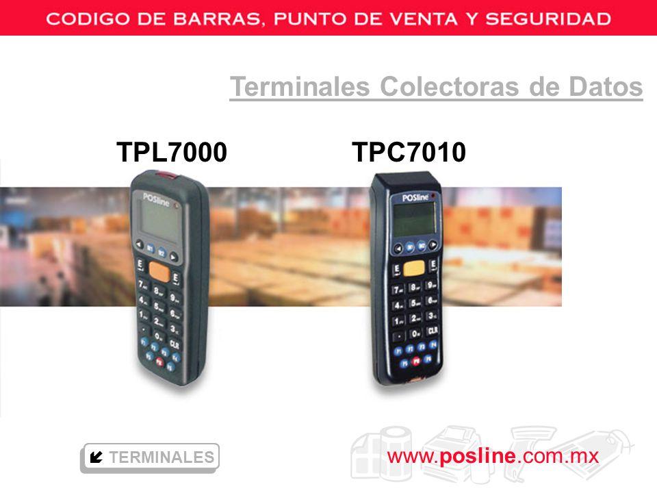 www.posline.com.mx TPL7000 TPC7010 Terminales Colectoras de Datos TERMINALES