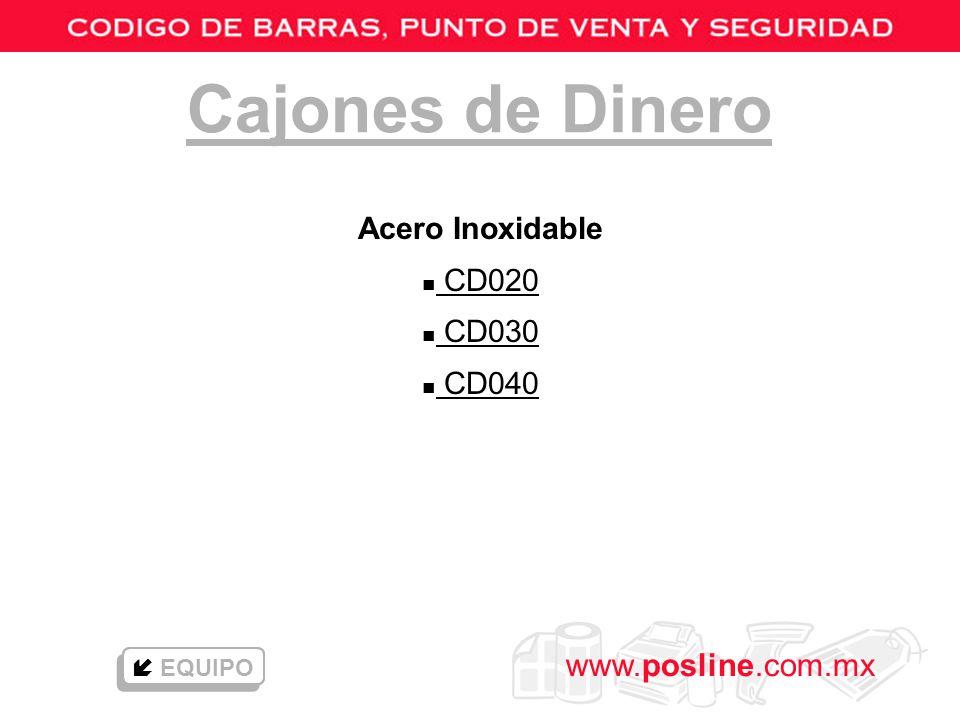 www.posline.com.mx n Impresión térmico directa n Pueden emplearse en tiendas de autoservicio, abarroteras, farmacias, bares, restaurantes, etc.