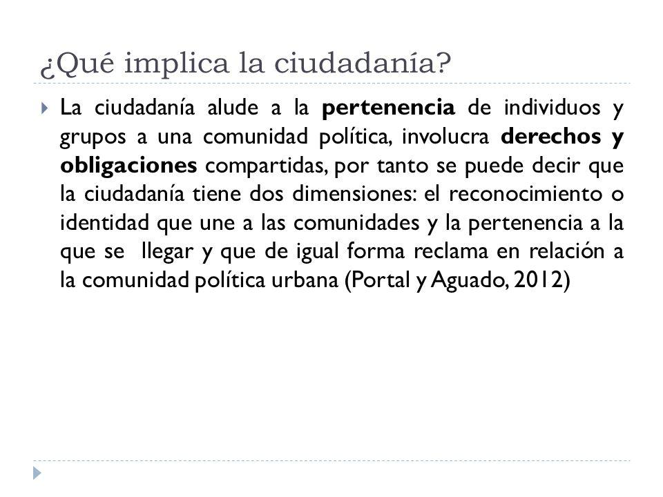 Por tanto: La formación ciudadana desde la empresa requiere consolidar competencias en los actores que les permitan afrontar los nuevos cambios (Márquez-Ramírez, 2011) lo cual involucra un proceso reflexivo sobre las implicaciones de la ciudadanía.