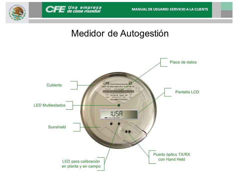 Medidor de Autogestión MANUAL DE USUARIO SERVICIO A LA CLIENTE
