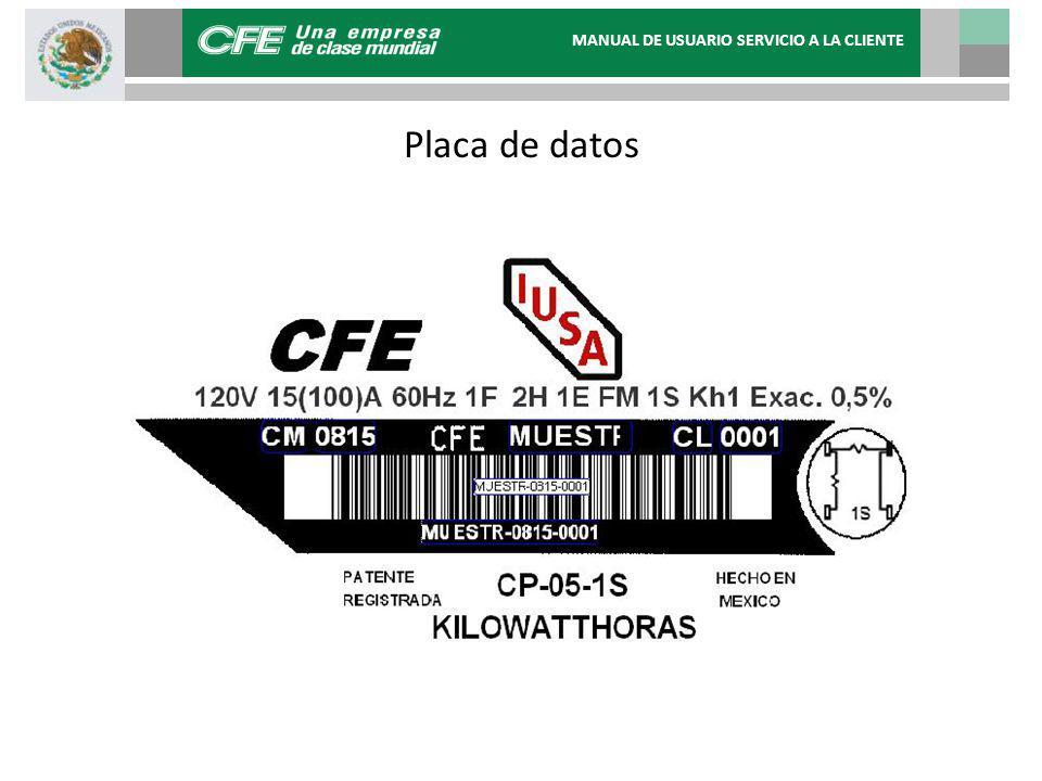 Placa de datos MANUAL DE USUARIO SERVICIO A LA CLIENTE