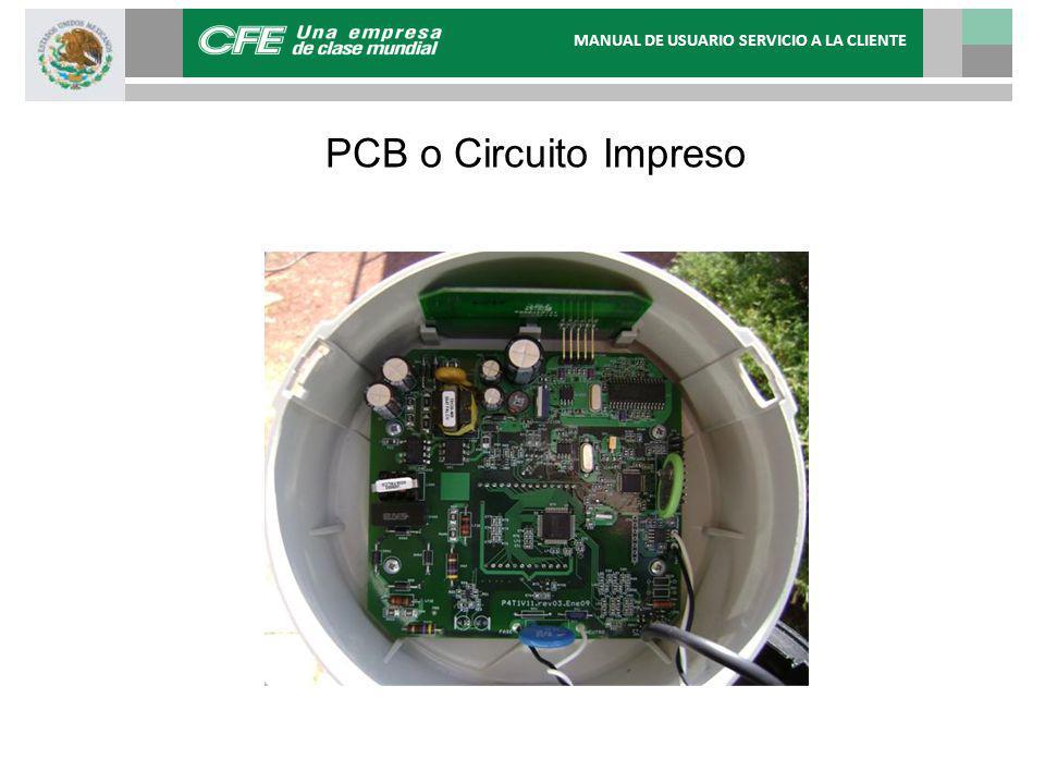 PCB o Circuito Impreso MANUAL DE USUARIO SERVICIO A LA CLIENTE