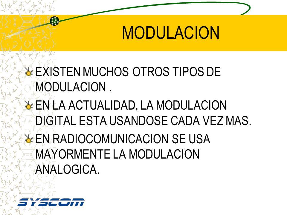 TIPOS DE MODULACION Los dos tipos de modulación Los dos tipos de modulación llegan exactamente igual y al mismo lugar al mismo lugar Aunque Ud. no lo
