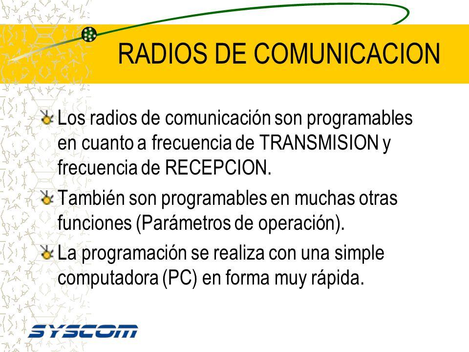 RADIOS DE COMUNICACION Lo mismo sucede en los radios para vehículo ( móviles ). O transmiten ó reciben, pero no las dos cosas simultáneamente.