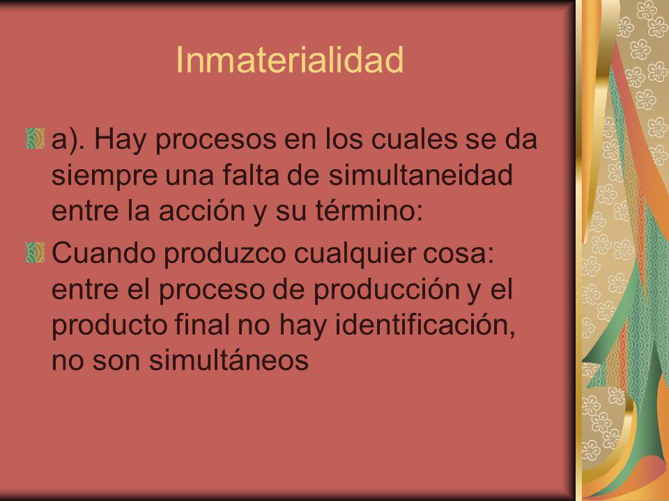 Inmaterialidad a).
