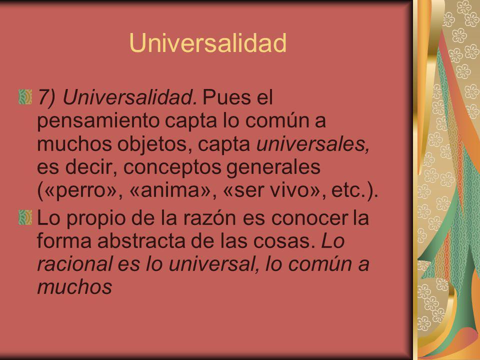 Universalidad 7) Universalidad.