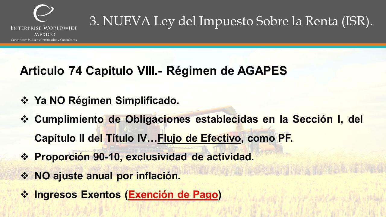 3.NUEVA Ley del Impuesto Sobre la Renta (ISR). Articulo 90, Titulo IV.- P.F.