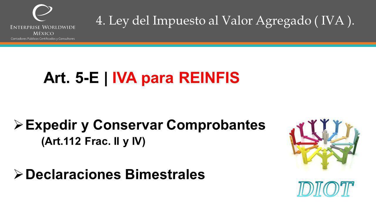 4.Ley del Impuesto al Valor Agregado ( IVA ). Articulo 15 Frac.