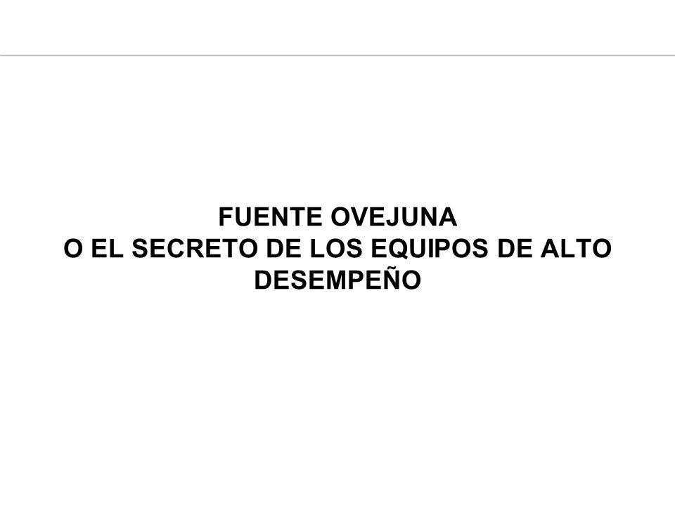 FUENTE OVEJUNA O EL SECRETO DE LOS EQUIPOS DE ALTO DESEMPEÑO