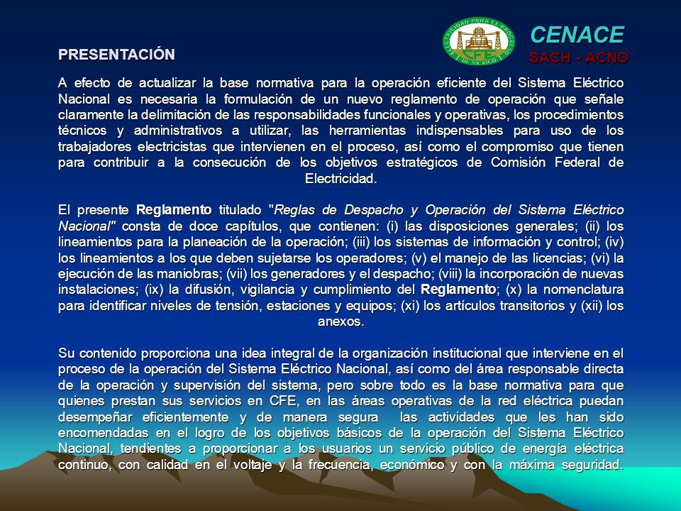 CENACE SACH - ACNO Artículo 142.- El CENACE proporcionará a cada uno de los productores de energía, por los medios idóneos, a más tardar a las quince horas de cada día el programa de despacho, hora por hora para el día siguiente, detallado para dicho productor.