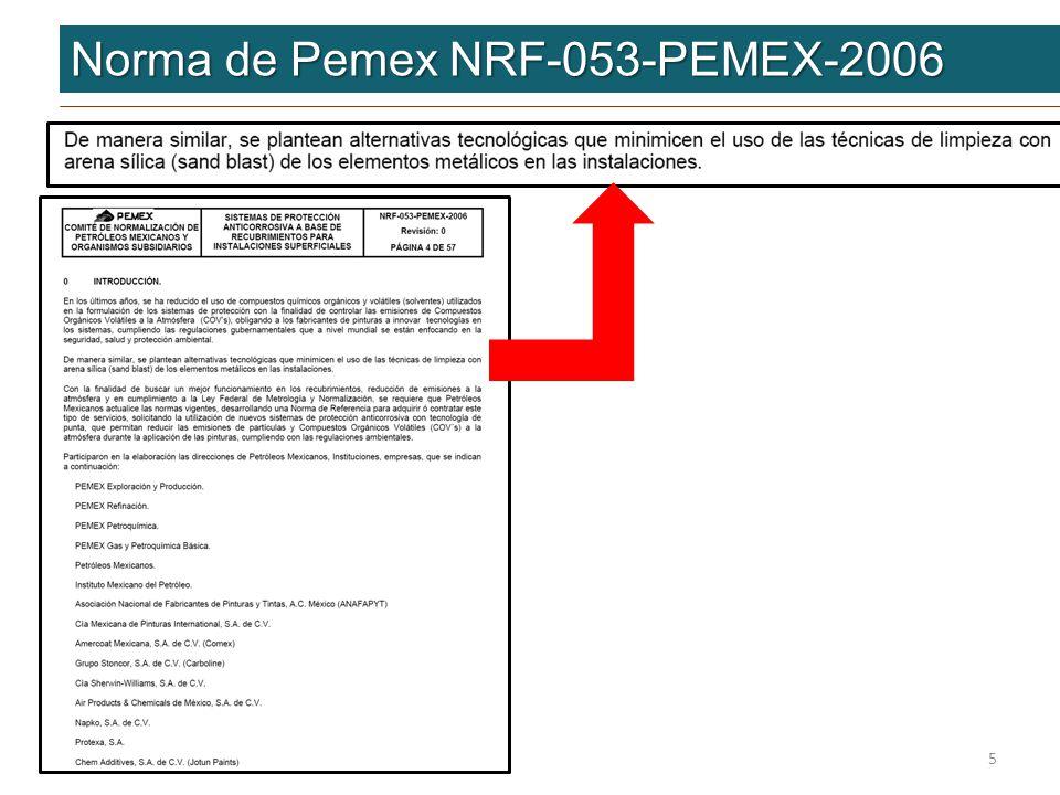 Norma de Pemex NRF-053-PEMEX-2006 5
