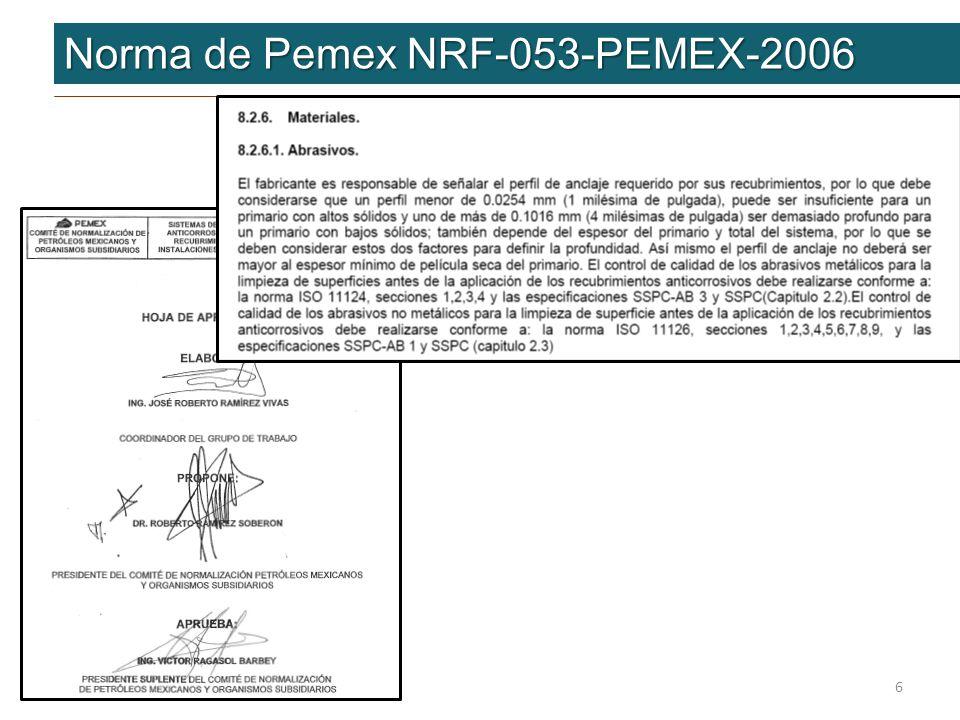 Conclusiones Conclusiones … Eurogrit cumple con las Normas de Pemex Eurogrit cumple con las Normas de Pemex Normas Internas Normas Internas Normas Internacionales Normas Internacionales Consistencia de la alta calidadConsistencia de la alta calidad Proveedor establecido en México Proveedor establecido en México Experiencia en Pemex Experiencia en Pemex Soporte técnico Soporte técnico Precio Rendimiento Calidad Normatividad es la mejor opción Precio Rendimiento Calidad Normatividad es la mejor opción Aprovechamiento de las inversiones actuales Aprovechamiento de las inversiones actuales 17