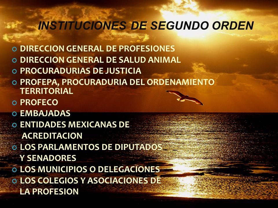 INSTITUCIONES SAGARPA SEP SEMARNAT SECRETARIA DE SALUD SECRETARIA DEL TRABAJO SECRETARIA DE ECONOMIA SEDESOL SECRETARIA DE RELACIONES EXTERIORES