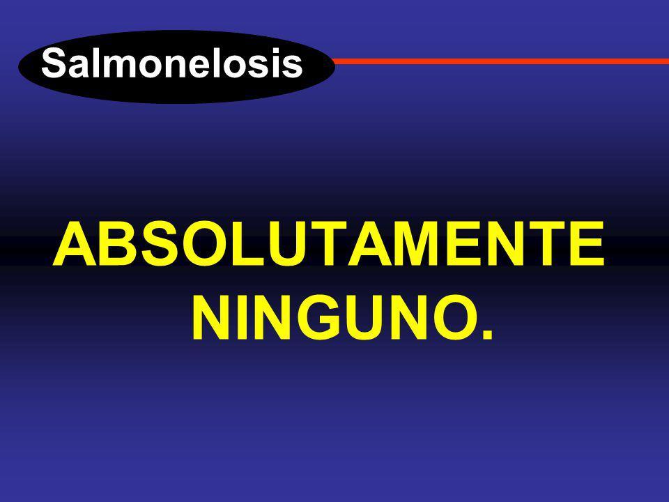 Salmonelosis DIAGNOSTICO. ¿Cual es la utilidad de las reacciones febriles en los casos de salmonelosis y otras infecciones intestinales?