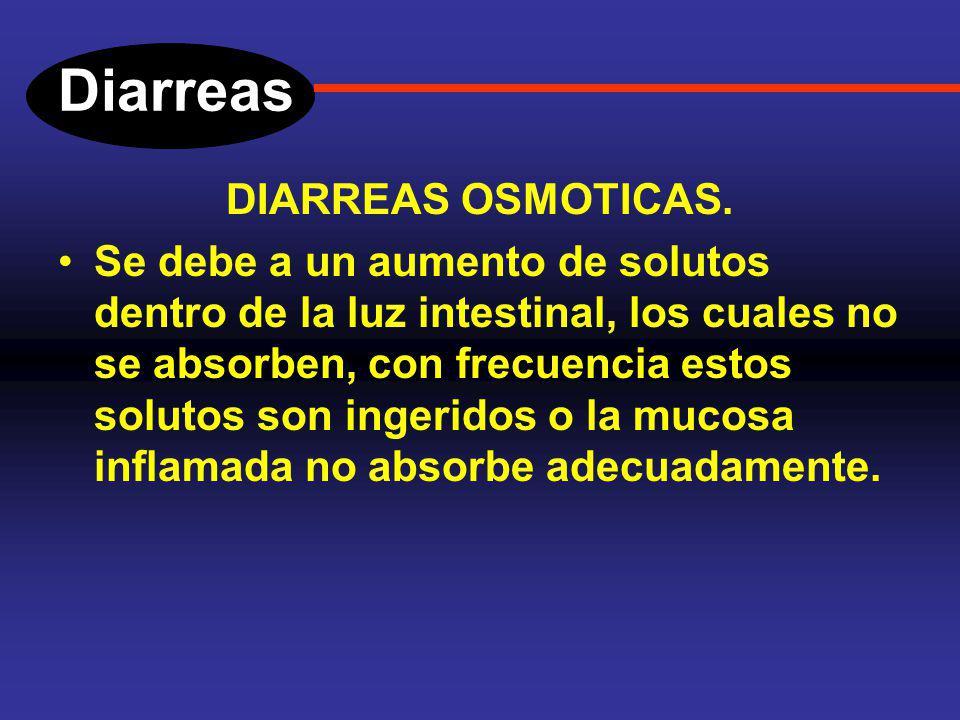 Diarreas Fisiopatología (tipos de diarrea). Son cuatro los mecanismos fisiopatológicos que ocasionan diarrea. 1.Diarrea osmótica. 2.Diarrea secretora.