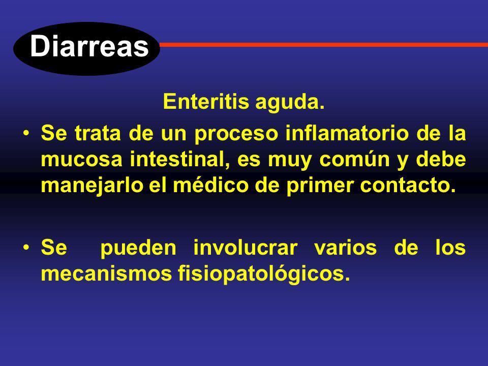 Diarreas DIARREA POR PROCESOS EXUDATIVOS. Estas diarreas, se producen en enfermedades inflamatorias: Colitis ulcerosa crónica inespecífica (CUCI). Enf