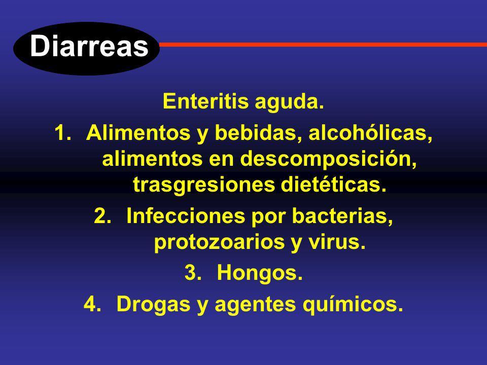 Diarreas Enteritis aguda. Se trata de un proceso inflamatorio de la mucosa intestinal, es muy común y debe manejarlo el médico de primer contacto. Se