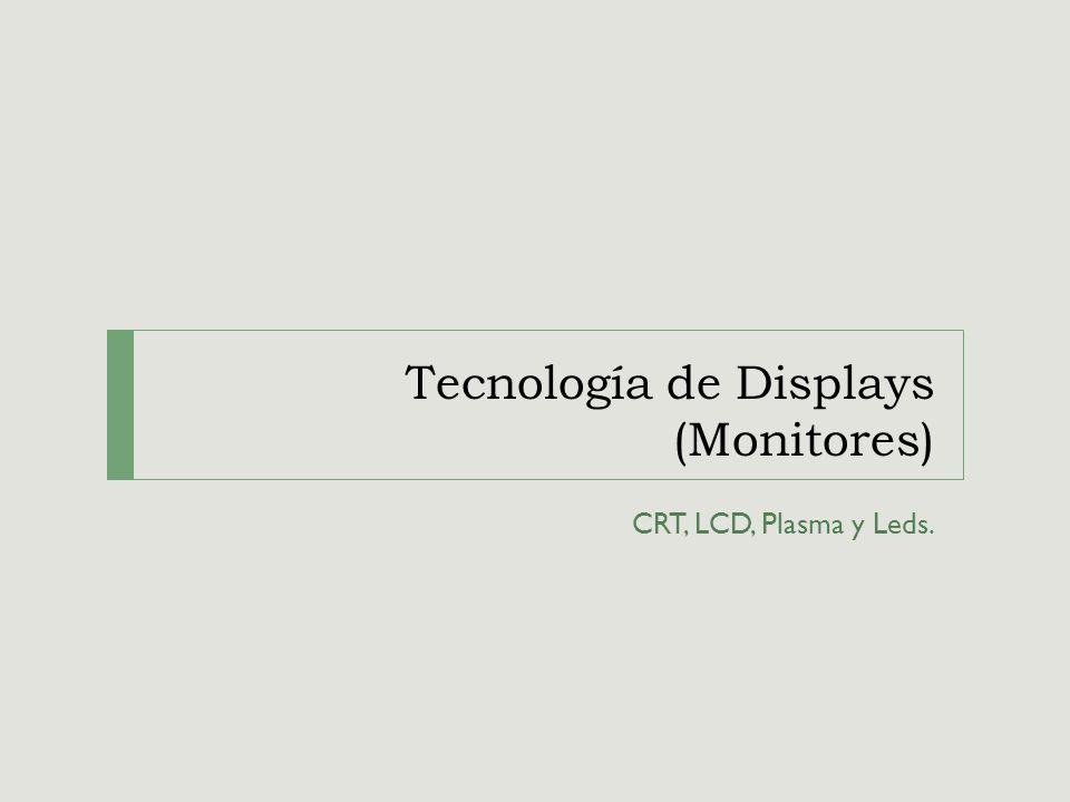 Tecnología de Displays (Monitores) CRT, LCD, Plasma y Leds.