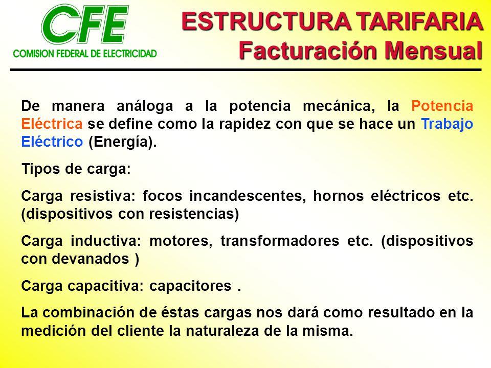 De manera análoga a la potencia mecánica, la Potencia Eléctrica se define como la rapidez con que se hace un Trabajo Eléctrico (Energía). Tipos de car