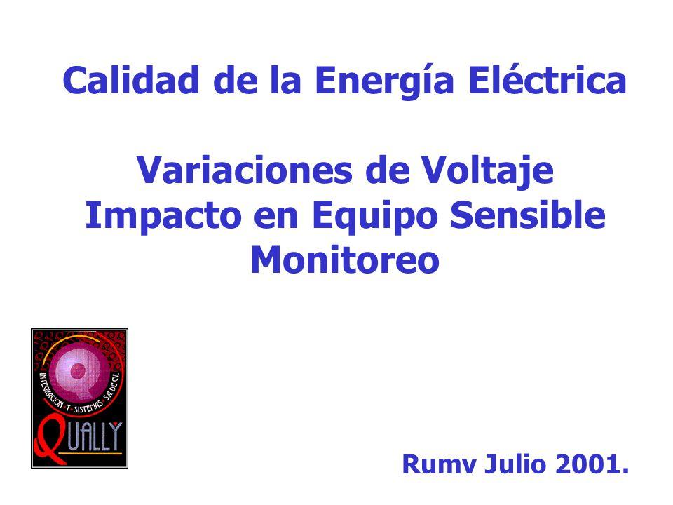 Calidad de la Energía Eléctrica Variaciones de Voltaje Impacto en Equipo Sensible Monitoreo Rumv Julio 2001.