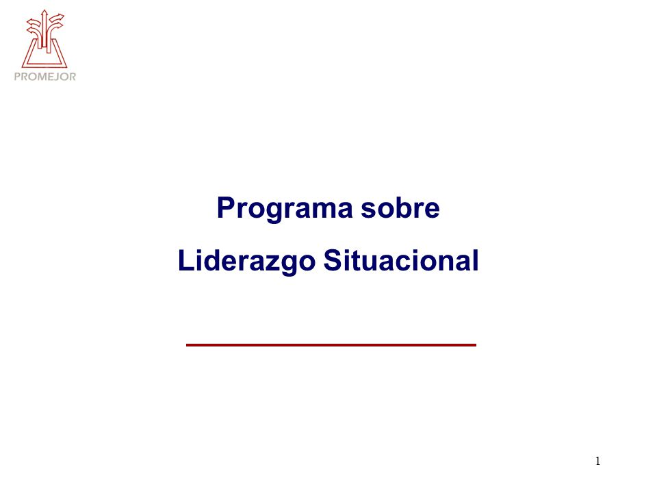 1 Programa sobre Liderazgo Situacional