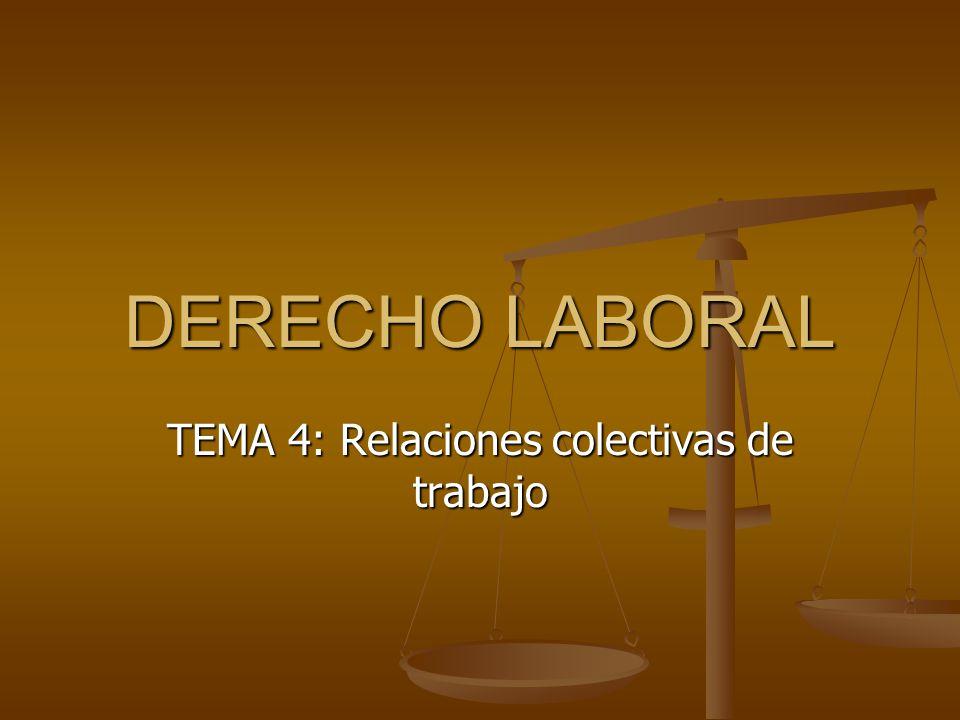 DERECHO LABORAL TEMA 4: Relaciones colectivas de trabajo