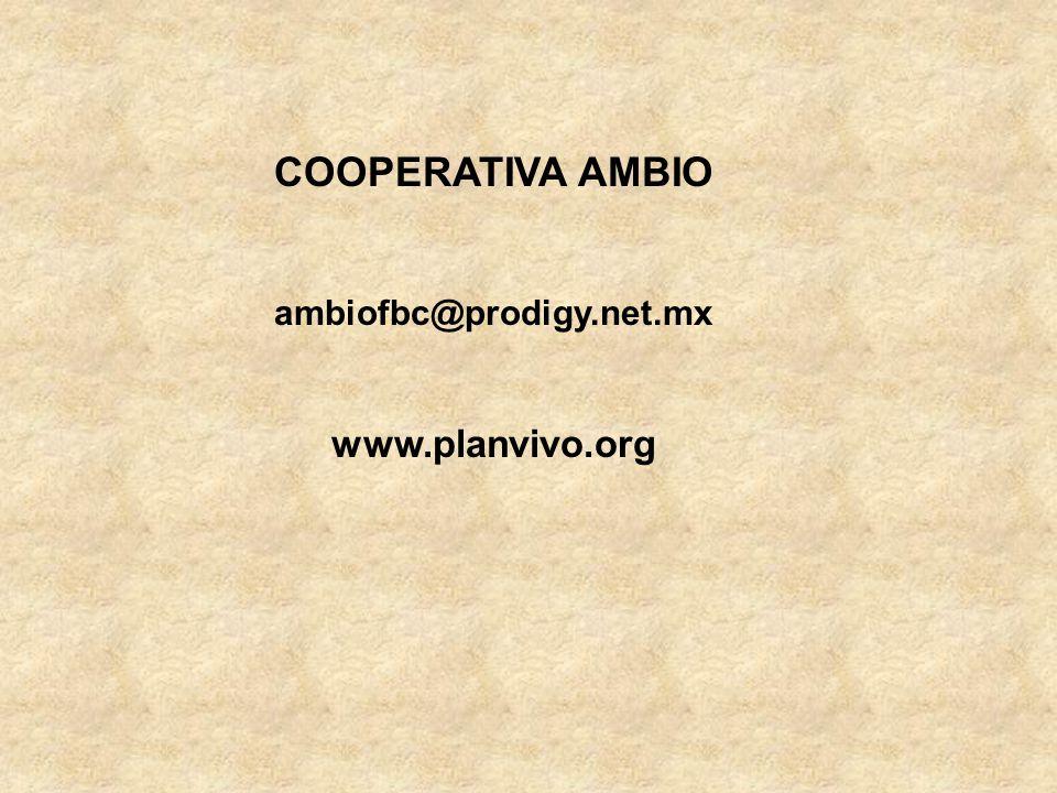 COOPERATIVA AMBIO ambiofbc@prodigy.net.mx www.planvivo.org
