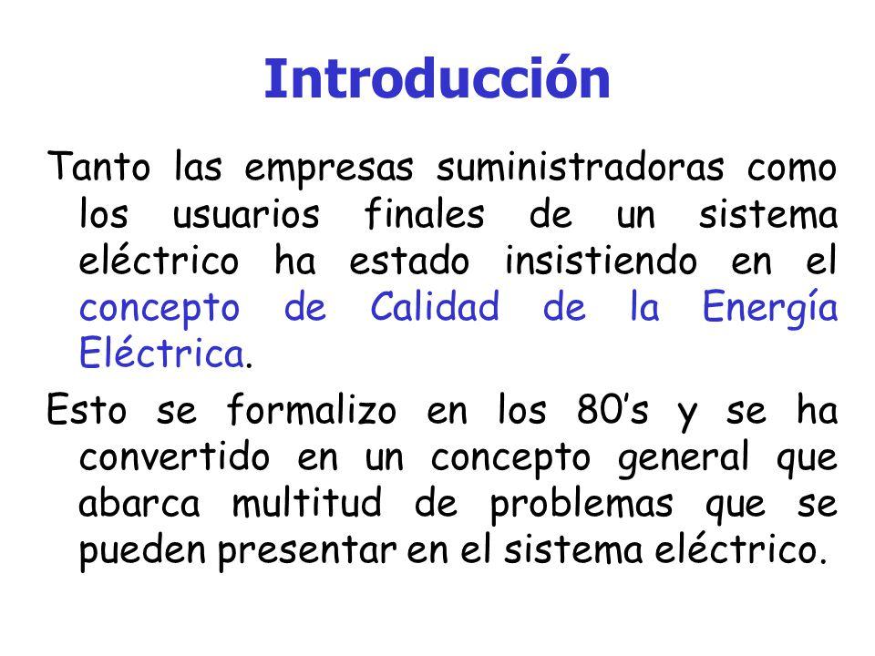 Marco Teórico Este y otros muchos más conceptos son el marco en el que se encuentra envuelto lo que se conoce como: La Calidad de la Energía Eléctrica.