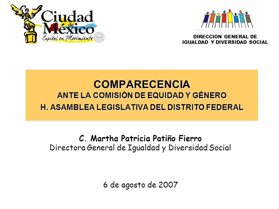COMPARECENCIA ANTE LA COMISIÓN DE EQUIDAD Y GÉNERO H.