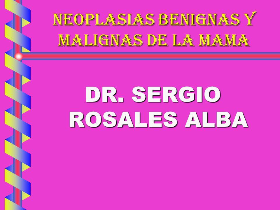 NEOPLASIAS BENIGNAS Y MALIGNAS DE LA MAMA PATOLOGÍA MAMARIA: SINTOMATOLOGÍA50 % SINTOMATOLOGÍA50 % BENIGNAS POR BIOPSIA17 % BENIGNAS POR BIOPSIA17 % ENFERMEDAD SINTOMÁTICA31 % ENFERMEDAD SINTOMÁTICA31 % MFQ POR NECROPSIA58.5 % MFQ POR NECROPSIA58.5 % BILATERAL 43 % BILATERAL 43 % MACROSCÓPICA 21 % MACROSCÓPICA 21 % HISLOP CAN.