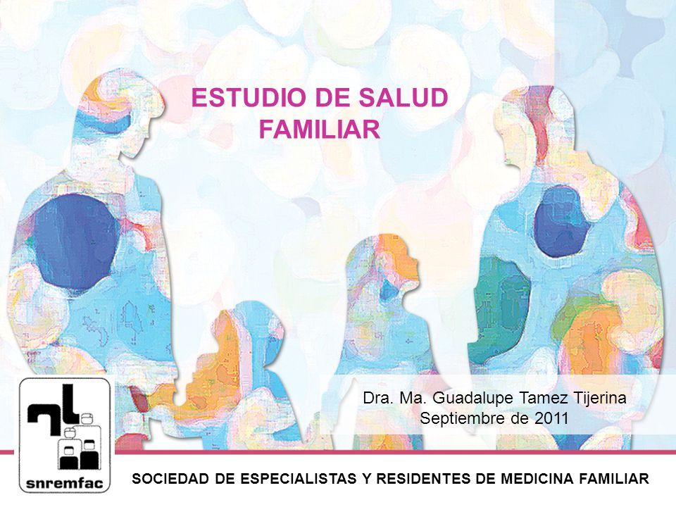 SOCIEDAD DE ESPECIALISTAS Y RESIDENTES DE MEDICINA FAMILIAR ESTUDIO DE SALUD FAMILIAR Dra.