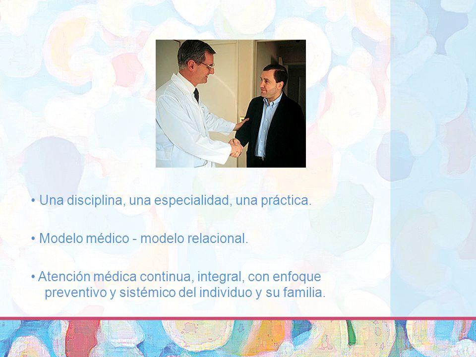 Una disciplina, una especialidad, una práctica.Modelo médico - modelo relacional.