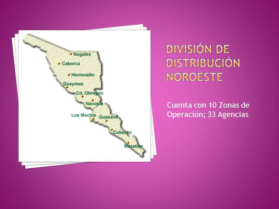 Cuenta con 10 Zonas de Operación; 33 Agencias