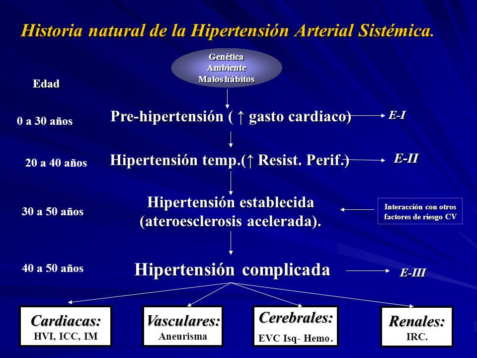 Historia natural del síndrome metabólico.