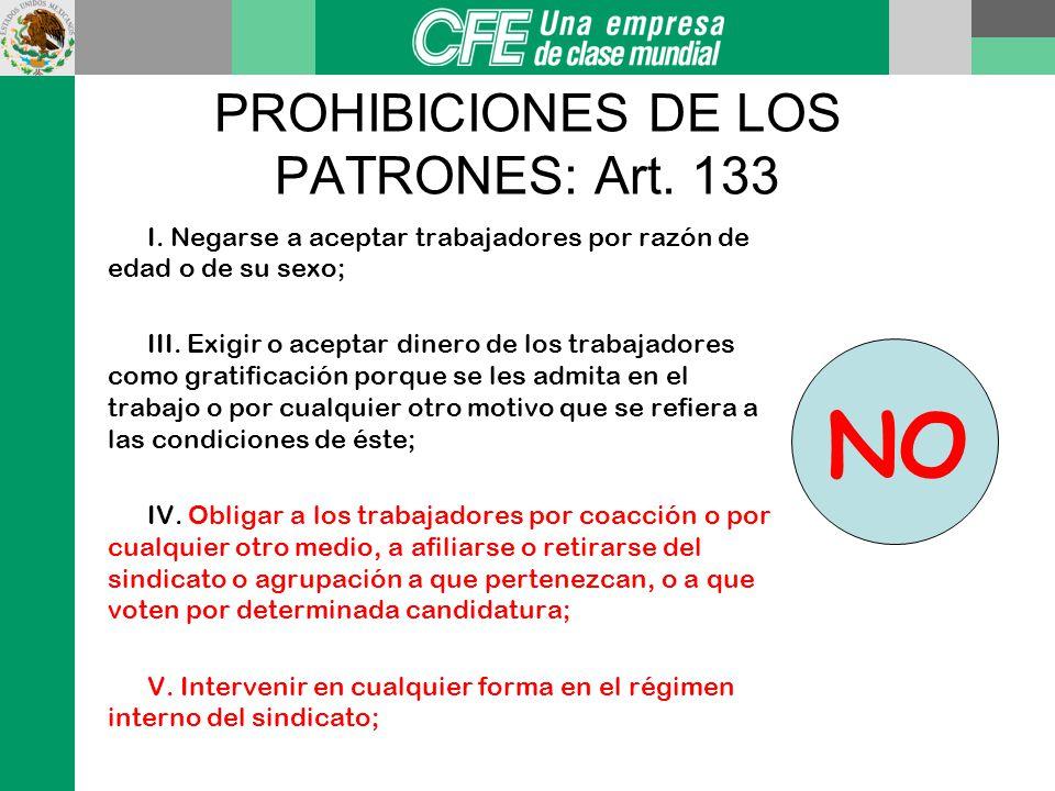 OBLIGACIONES DE LOS PATRONES XVII. Cumplir las disposiciones de seguridad e higiene que fijen las leyes y los reglamentos para prevenir los accidentes