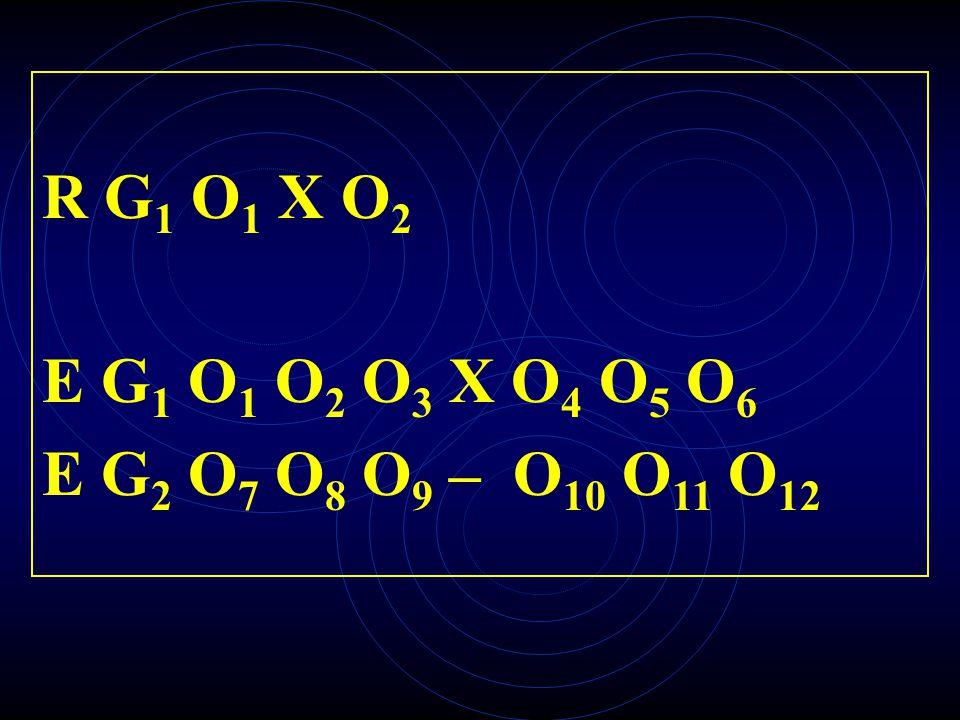 R G 1 O 1 X O 2 E G 1 O 1 O 2 O 3 X O 4 O 5 O 6 E G 2 O 7 O 8 O 9 – O 10 O 11 O 12