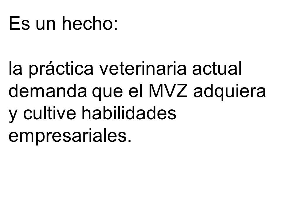Es un hecho: la práctica veterinaria actual demanda que el MVZ adquiera y cultive habilidades empresariales.