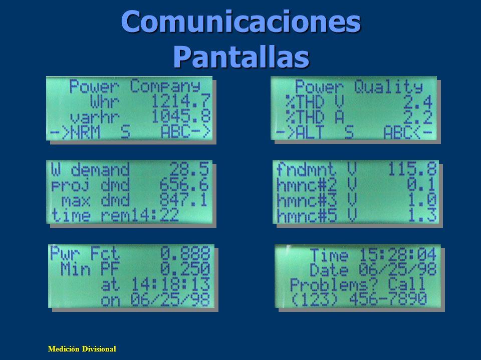 Medición Divisional Comunicaciones Pantallas