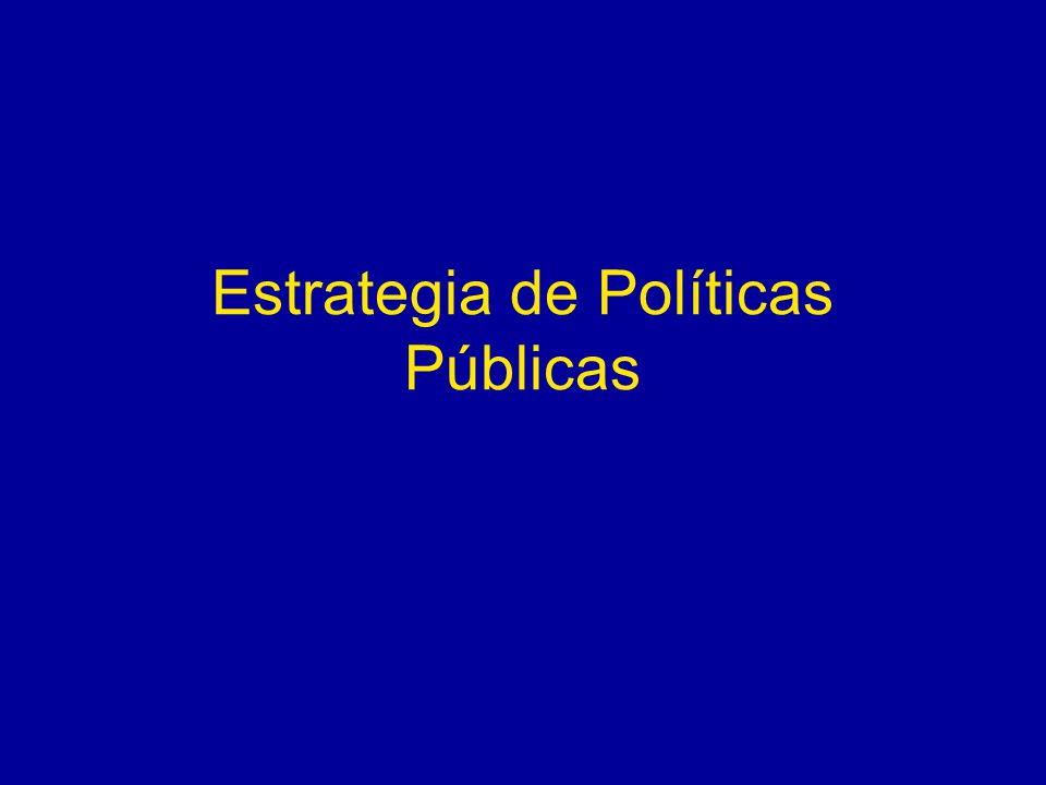 Estrategia de Políticas Públicas